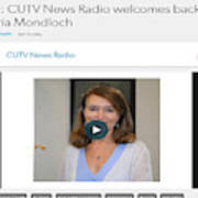 Cutv News Radio Welcomes Back Dr. Victoria Mondloch Art Print