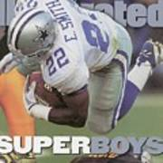 Dallas Cowboys Emmitt Smith, Super Bowl Xxx Sports Illustrated Cover Art Print