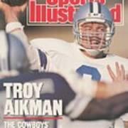 Dallas Cowboys Qb Troy Aikman... Sports Illustrated Cover Art Print