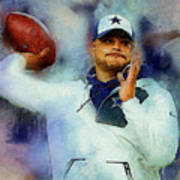 Dallas Cowboys.dak Prescott. Art Print