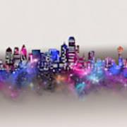 Dallas Skyline Galaxy Art Print