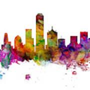 Dallas Texas Skyline Panoramic Art Print