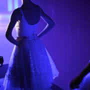 Dancer Standing Backstage Waiting For Art Print