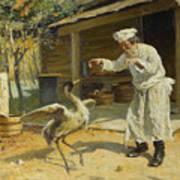Dancing Crane, 1897. Artist Makovsky Art Print