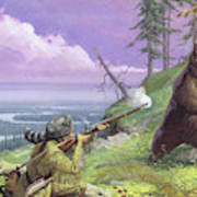 Daniel Boone Blazes The Wilderness Trail Art Print