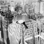 Daredevil Doing Balancing Act Art Print