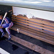 Darryl Strawberry Sits In The Dugout Art Print