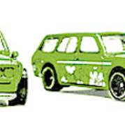 Datsun 510 Comic Strip Art Print