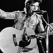 David Bowie Performing As Ziggy Stardust Art Print