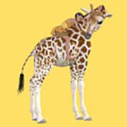 Daydreaming Of Giraffes Png Art Print