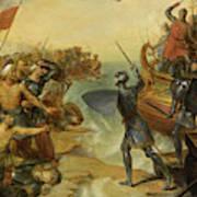 Debarquement De Saint Louis, A Damiette En Egypte, 1249 Art Print