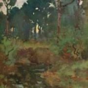 Decorative Landscape Study, C.1903 Art Print