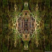 Deep Jungle Temple With Lanterns Art Print