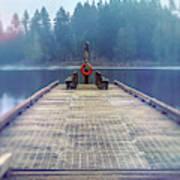 Deep Lake Dock  Art Print