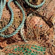 Deep Sea Fishing Nets And Buoys Art Print