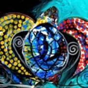 Deep Sea Sea Turtle Art Print