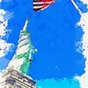 Defending Liberty Watercolor By Ahmet Asar Art Print