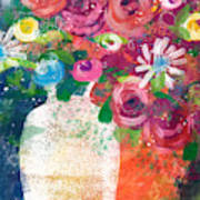 Delightful Bouquet 2- Art By Linda Woods Art Print