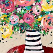 Delightful Bouquet 5- Art By Linda Woods Art Print