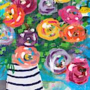 Delightful Bouquet 6- Art By Linda Woods Art Print