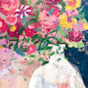 Delightful Bouquet- Art By Linda Woods Art Print