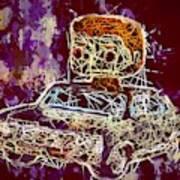 Dean Winchester Car Supernatural Pop  Art Print
