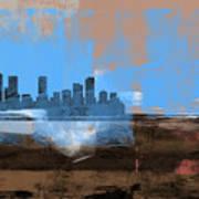 Denver Abstract Skyline I Art Print