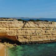 Deserta Beach Scene In Algarve Art Print