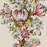 Design For Sprays Of Flowers Art Print