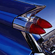 Detail Of An American Cadillac, Eze Art Print