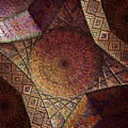 Detail Of The Ceiling Tilework Art Print