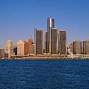 Detroit Buildings On The Water Art Print