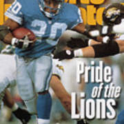 Detroit Lions Barry Sanders... Sports Illustrated Cover Art Print