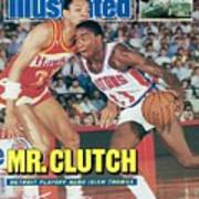Detroit Pistons Isiah Thomas, 1987 Nba Eastern Conference Sports Illustrated Cover Art Print