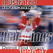 Detroit Red Wings Steve Yzerman, 1997 Nhl Stanley Cup Sports Illustrated Cover Art Print