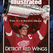 Detroit Red Wings Steve Yzerman, 1998 Nhl Finals Sports Illustrated Cover Art Print