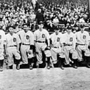 Detroit Tigers 1935 Pitching Staff At Art Print