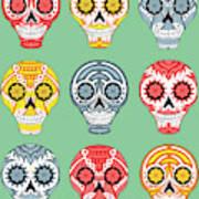 Dia De Muertos Skulls Art Print