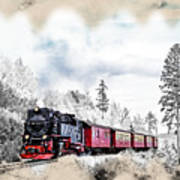 Diesel Powered Passenger Train Art Print