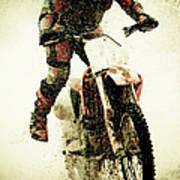 Dirt Bike Rider Art Print
