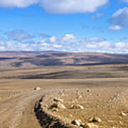 Dirt Road Sprengisandur Central Iceland Art Print