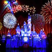 Disneyland 60th Anniversary Fireworks Art Print