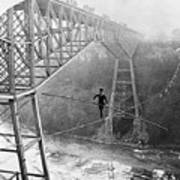 Dixon Crossing Niagara On A Tightrope Art Print