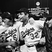 Dodgers Congratulating Sandy Koufax Art Print