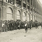 Dodgers Fans In Line At Ebbets Field Art Print