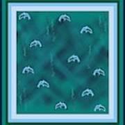Dolphins Design Art Print