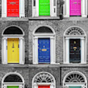 Doors Of Dublin - Vertical Art Print
