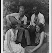 Doris Ulmann   1882-1934  Four Musicians Including A Man Playing A Guitar, A Man Playing A Violin Art Print