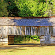 Double Crib Barn In Cades Cove In Smoky Mountains National Park Art Print