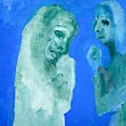 Double Portrait On Blue Sky Art Print